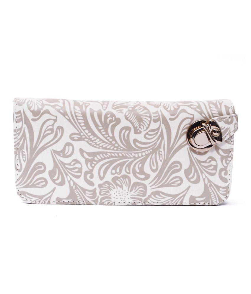 Zakina White Casual Wallet For Women