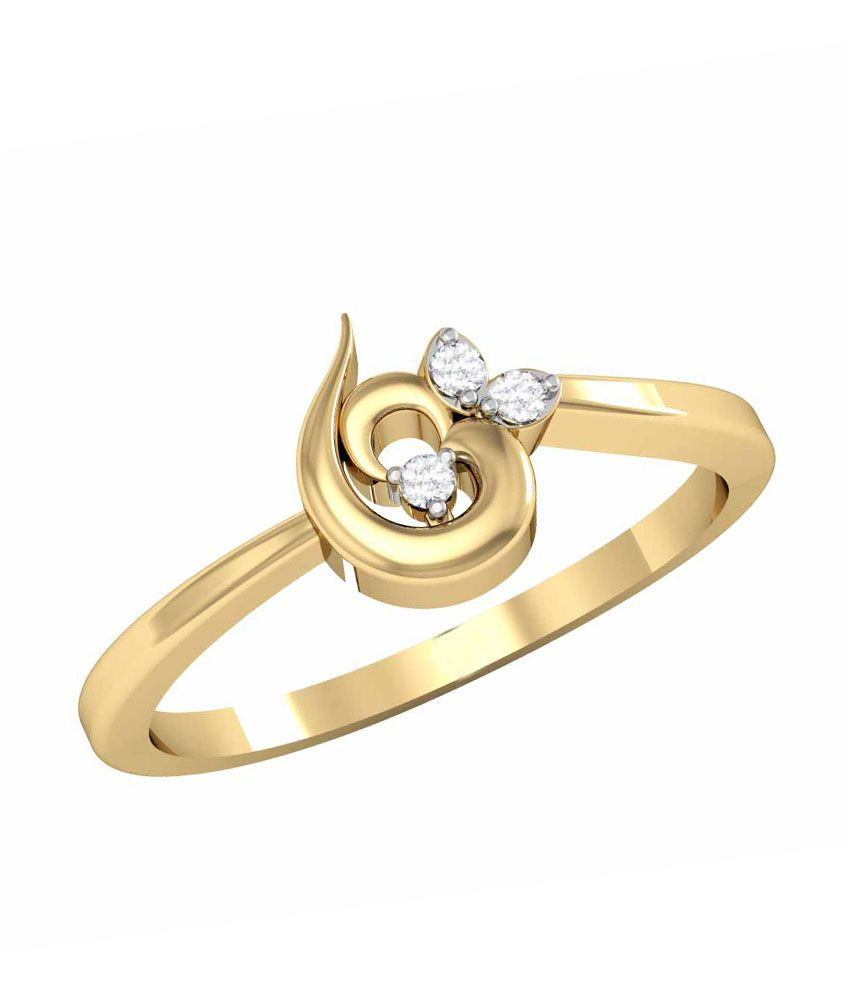 Vachya 18k Diamond Ring Golden Plated Traditional Ring