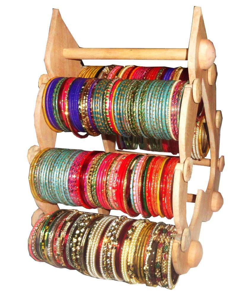 Atorakushon 6 Roll Wooden Designer Export Quality Bangles Stand ...