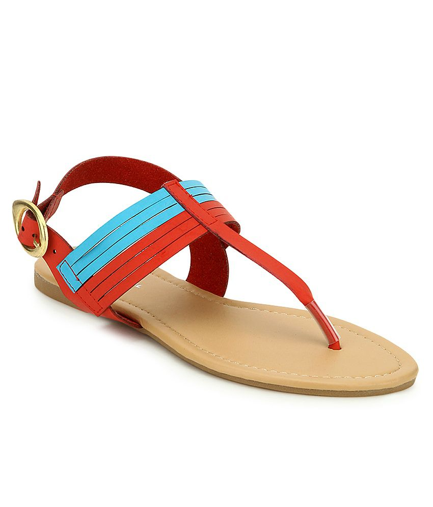 American Swan Bernard Red Sandals
