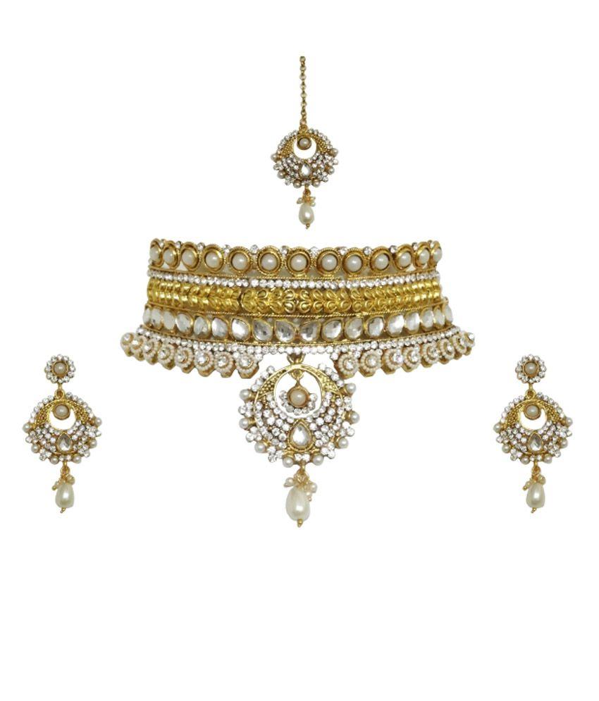 Arts Chetan Casual Hit Golden Necklace Set