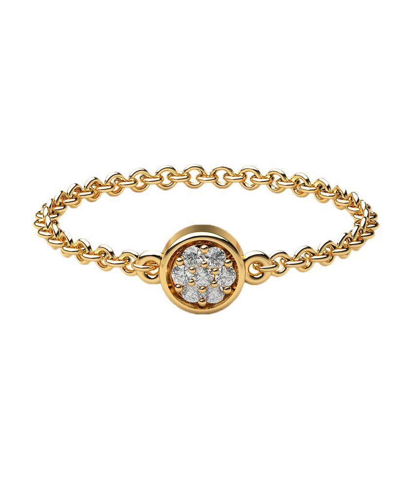Lypsa Atelier 18kt Gold Wedding & Engagement Diamond Ring