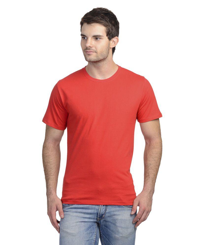 Onstreet Red Cotton Blend T-shirt