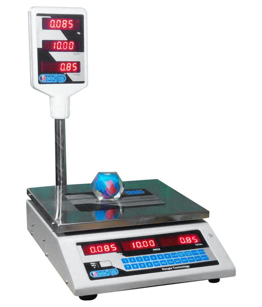Reegle White Plastic Price Computing Scale Weighing ...
