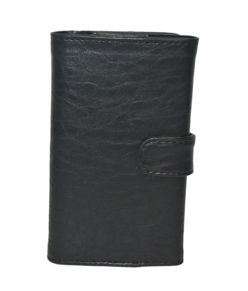 Totta Wallet Pouch With Card Holder For Xolo 8x 1000 - Black