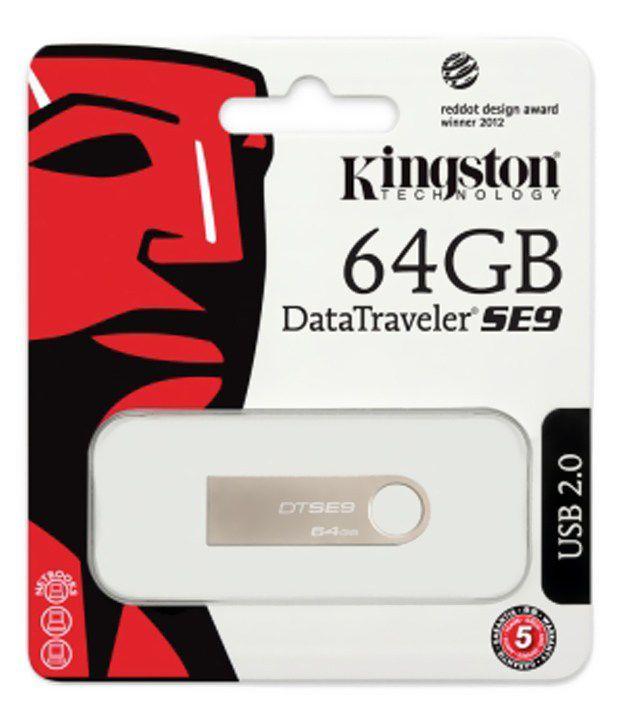 Kingston DataTraveler SE9 64 GB Pen Drive - Grey