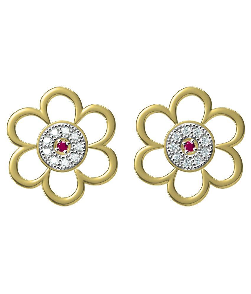 Ooh Gori Fashion Golden Alloy Colour Spark Cluster Earrings