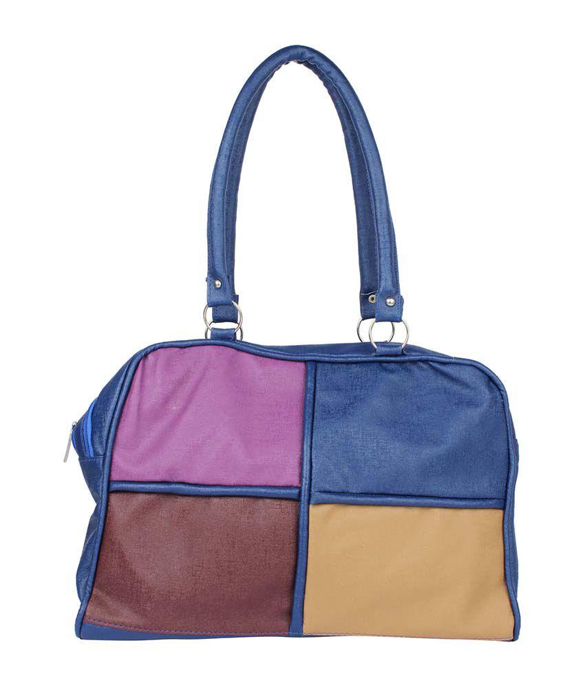 Prepra Womania Handbag Blue Multi Color