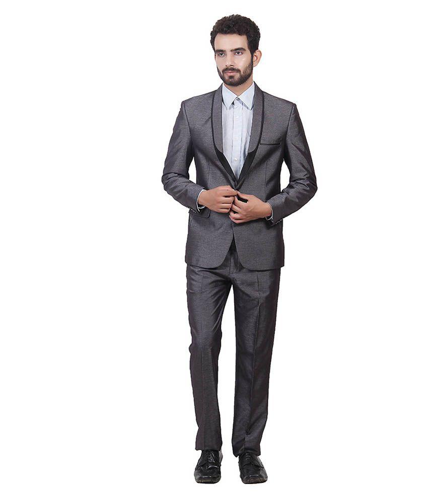 Saara Fashions Black Cotton Blend Formal Suit