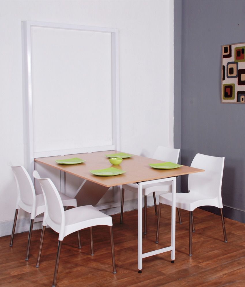 Spaceone 4 seater space saving dining table