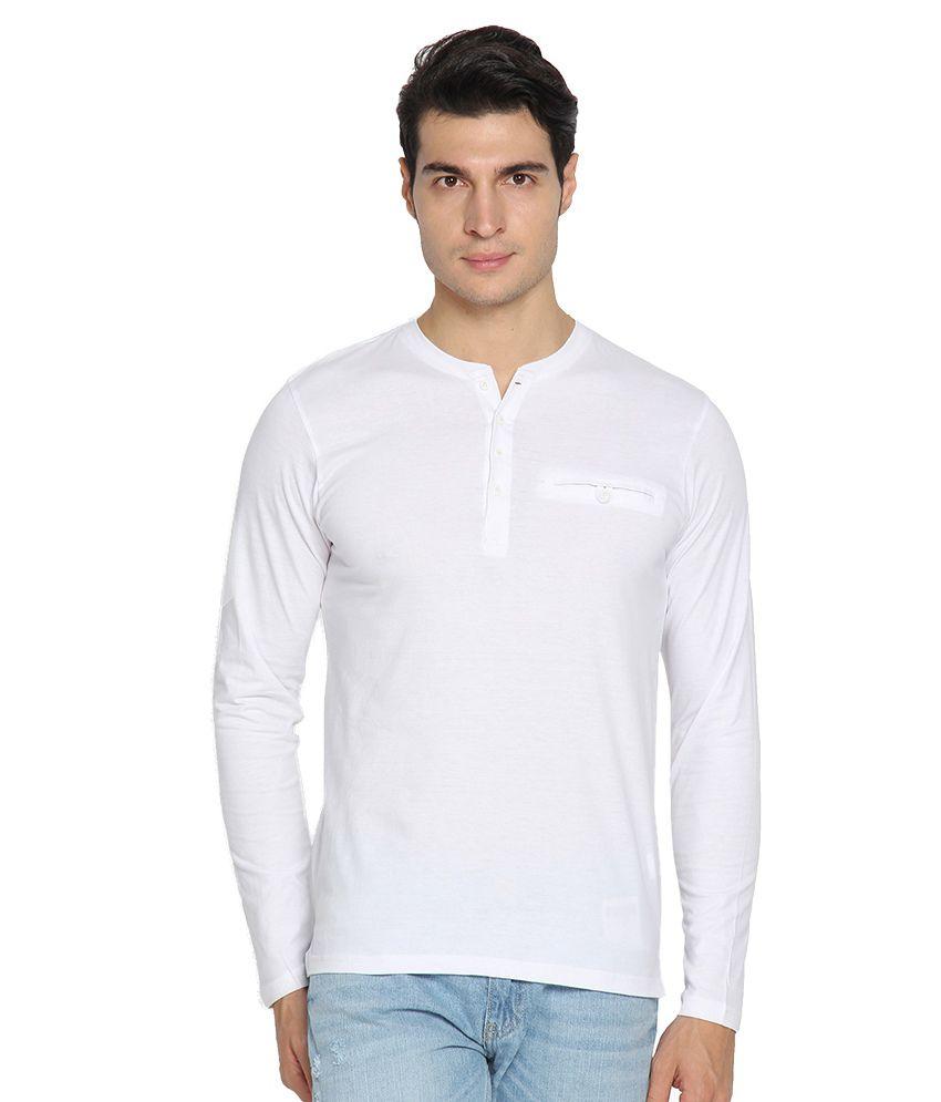 Highlander White Henley T-Shirt