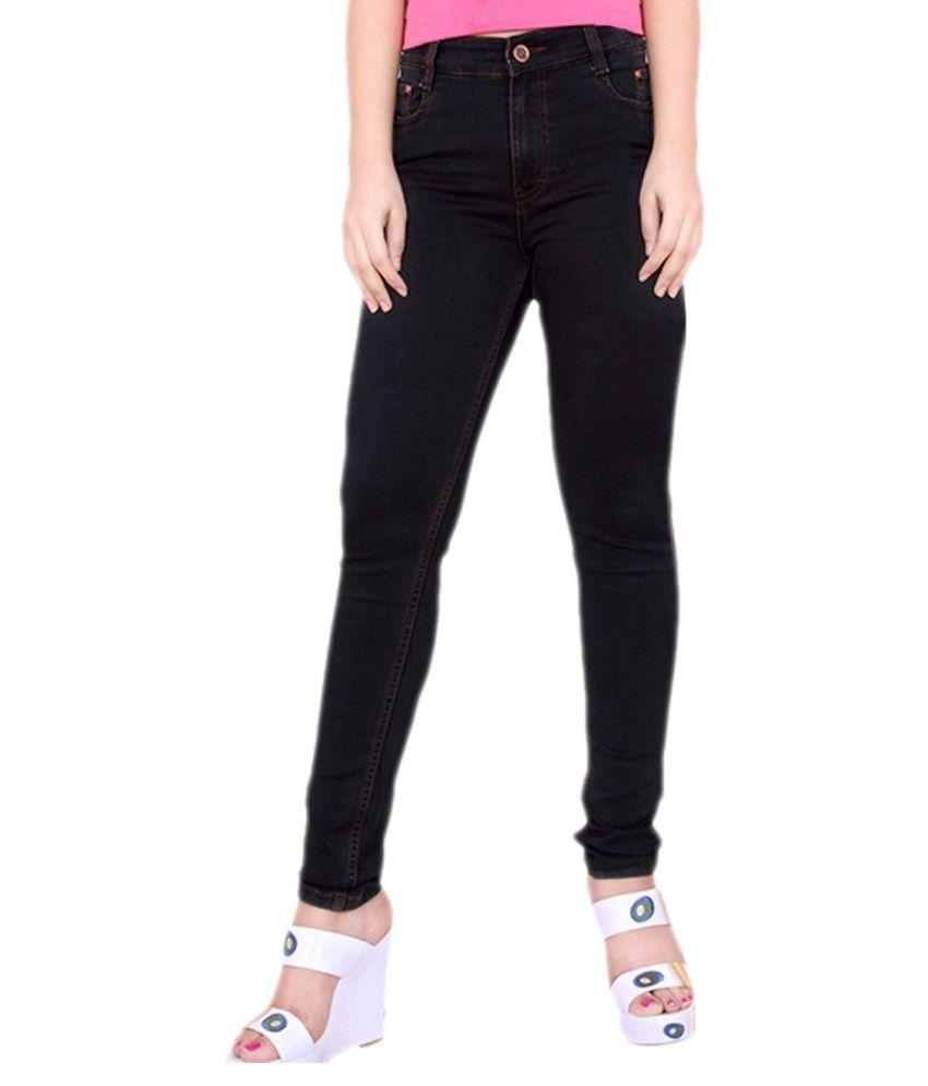 FCK-3 Black Denim Lycra Jeans