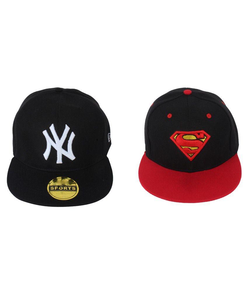 ccfab35c331 Eccellente Black Superman NY Hiphop Cap - Buy Online   Rs.