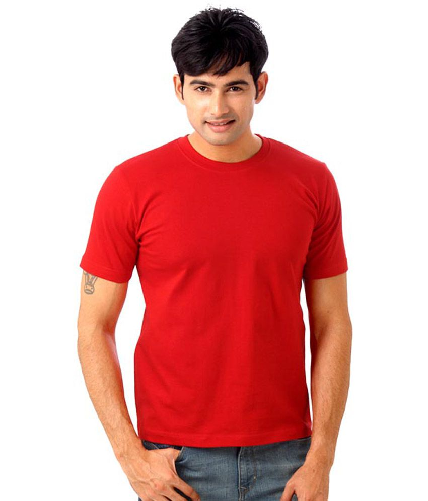 Hct Fashion Red Cotton Blend T-shirt - Pack Of 3