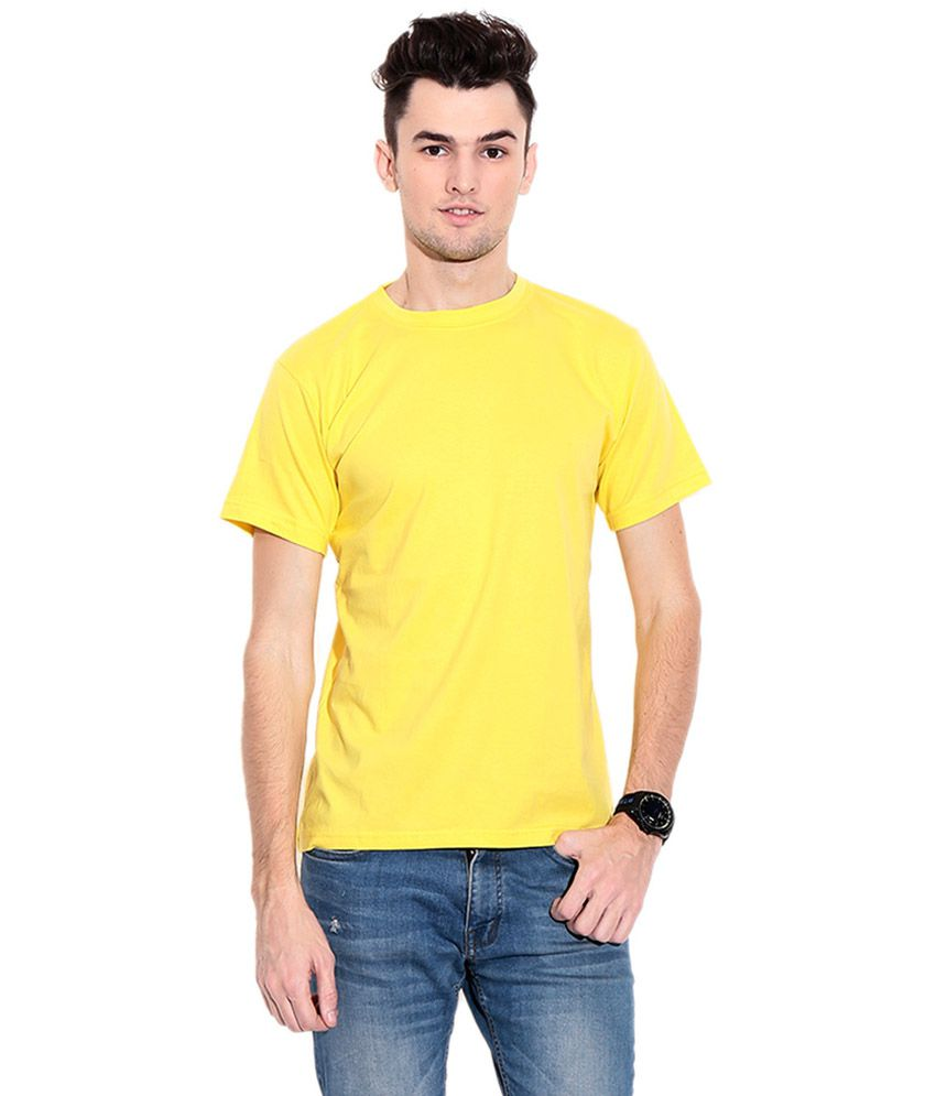 Hct Fashion Yellow Cotton Blend T-shirt - Pack Of 3