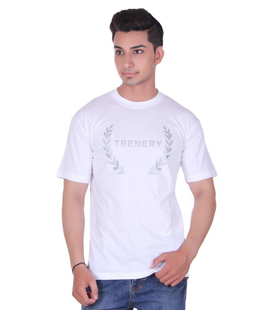 Trenery White Cotton T-shirt