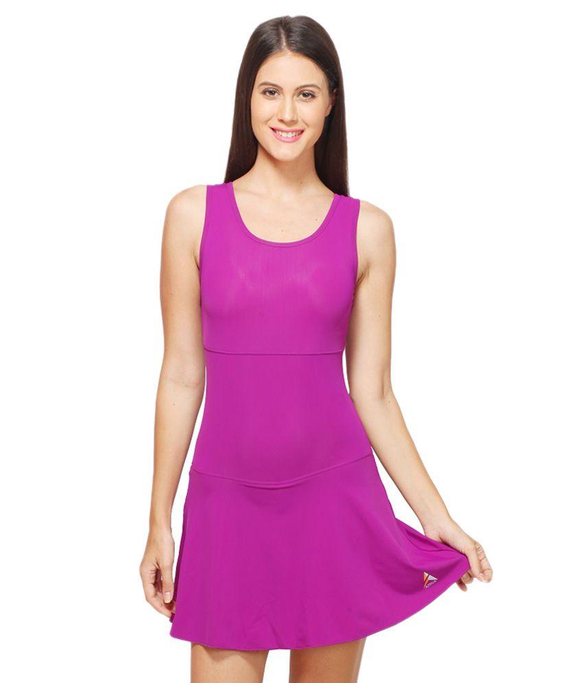 Attiva Pink Female Sleeveless Swimwear/ Swimming Costume