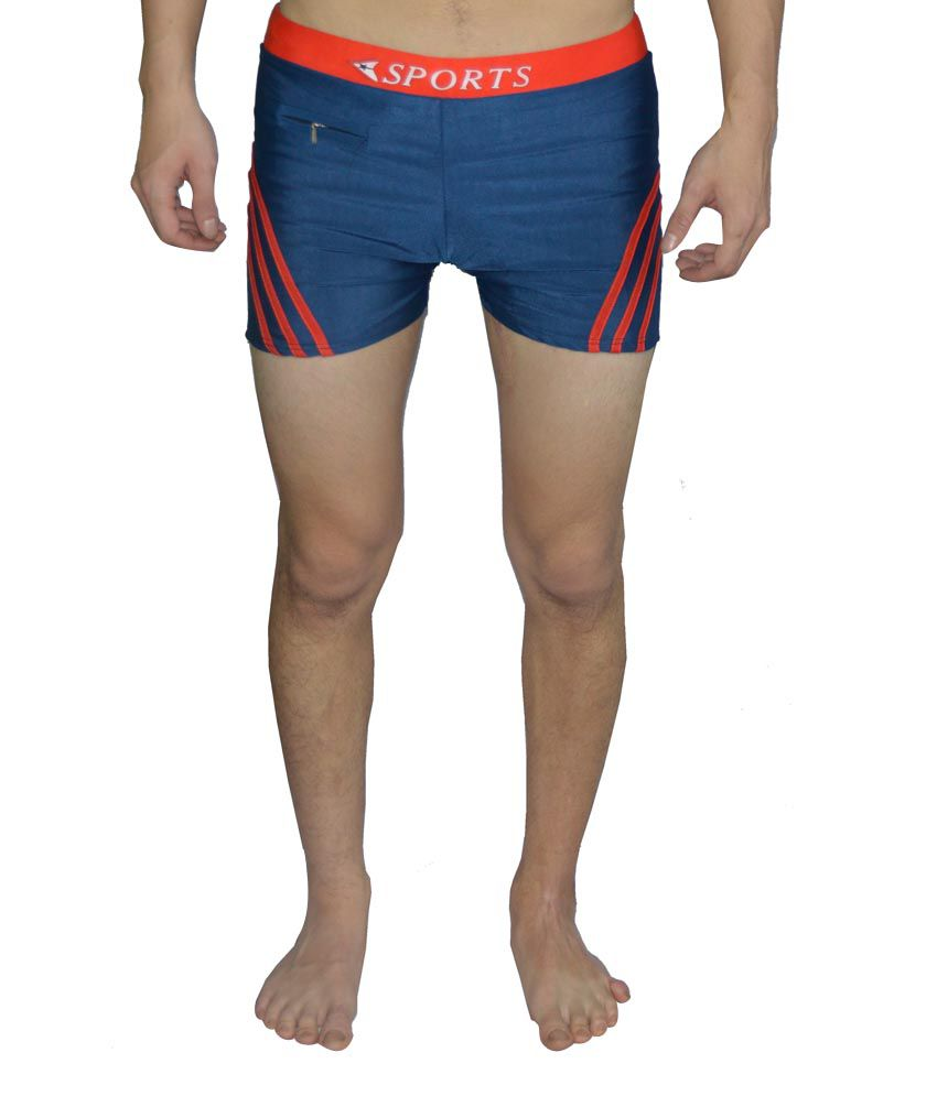 Tab Blue & Red Swimming Trunk