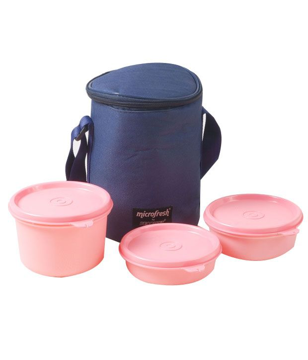 PearlPET 3 Pcs Lunch Box Set with Insulated Bag