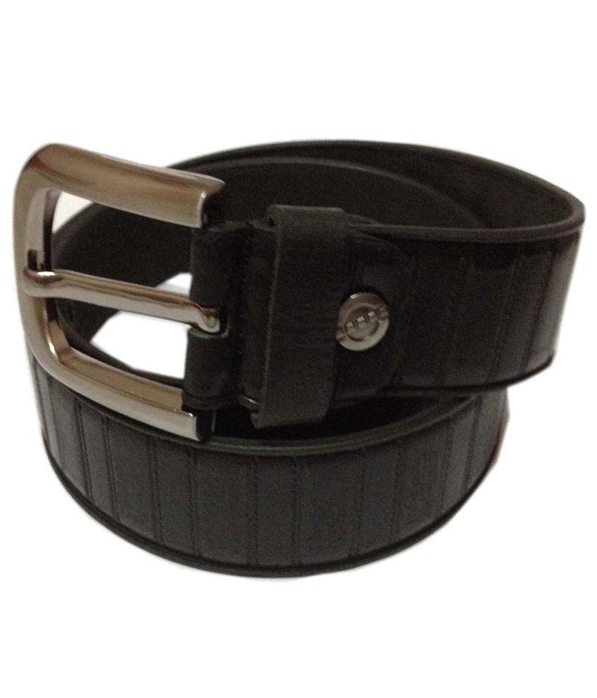 Rk International Black Leather FormaL Belt