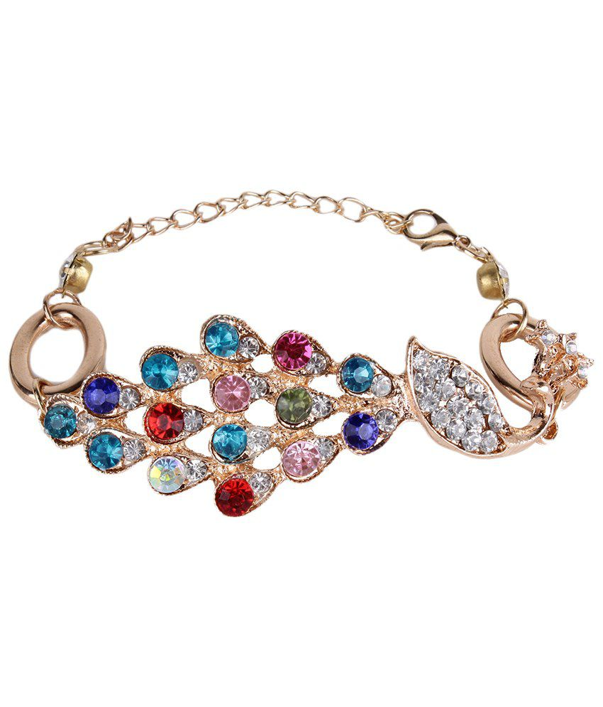 Shining Diva Fashion Multicoloured Festive Wear Bracelet