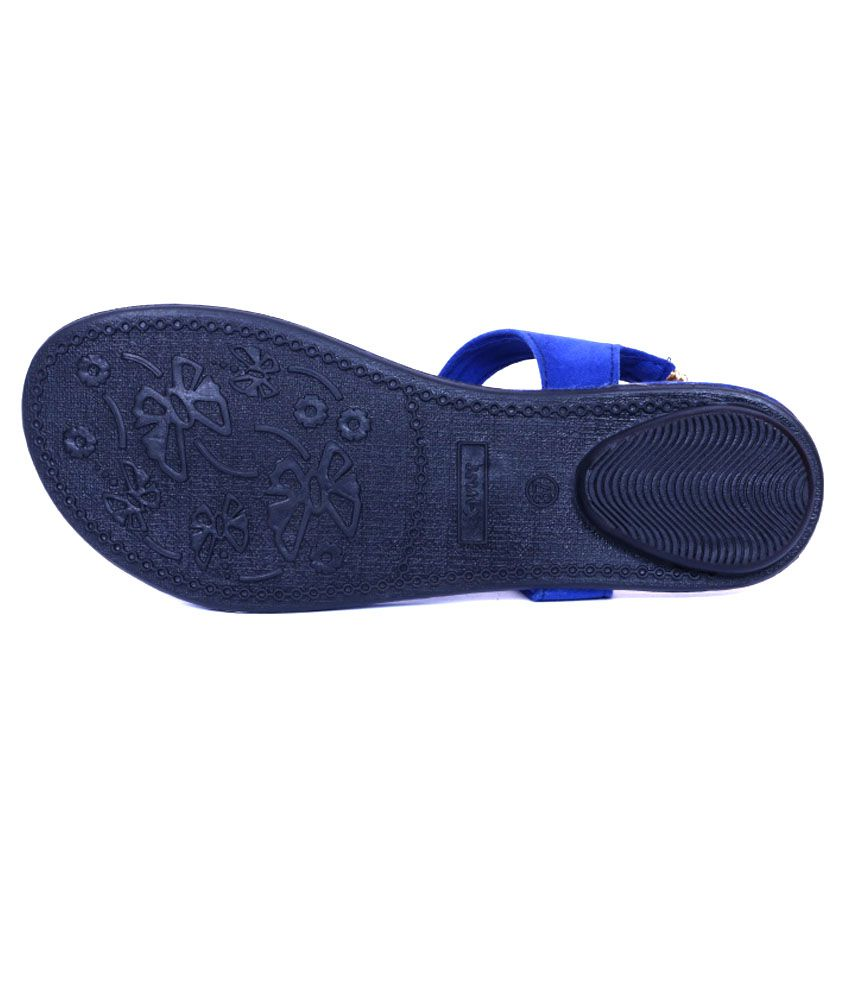 8899cb27611a Adjoin Steps Blue Flat Sandals Price in India- Buy Adjoin Steps Blue ...