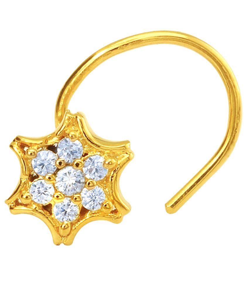 Mahi Golden Brass Nosepin
