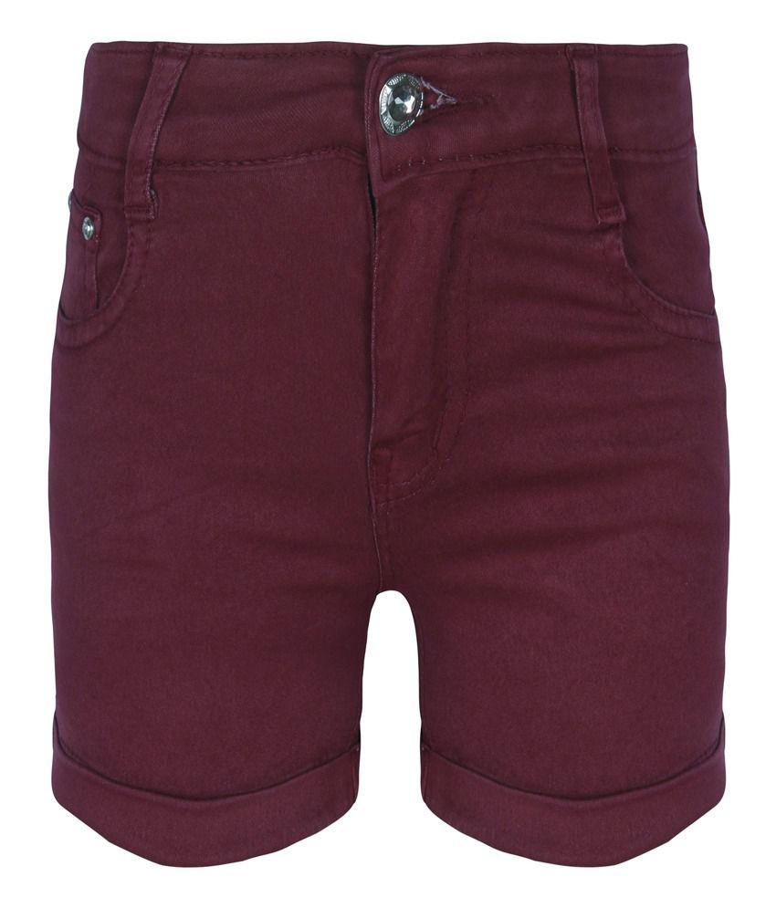 Jazzup Maroon Shorts