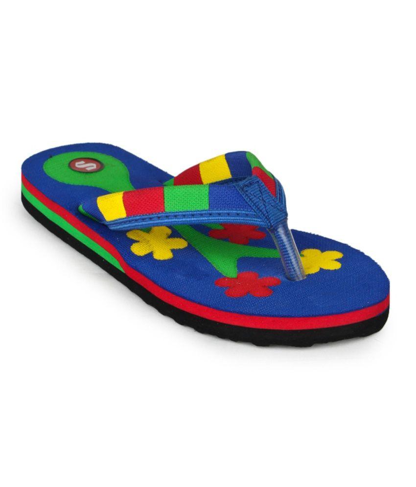 11e Blue Flip Flops