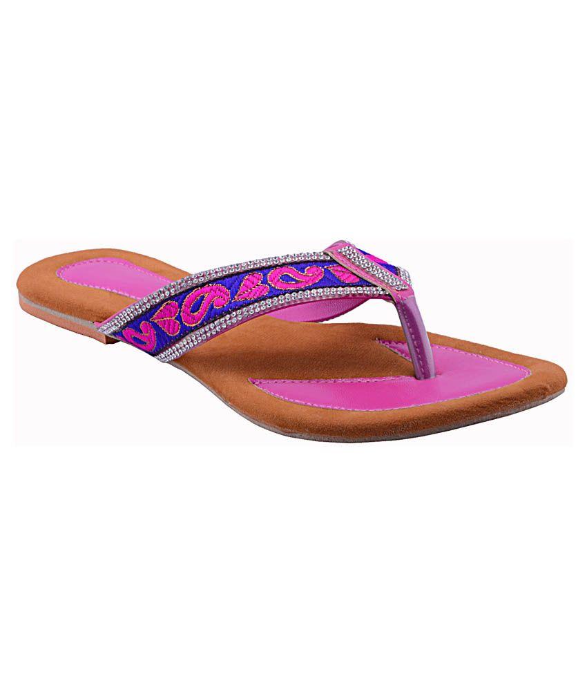 Fabme Pink Flat Slip On