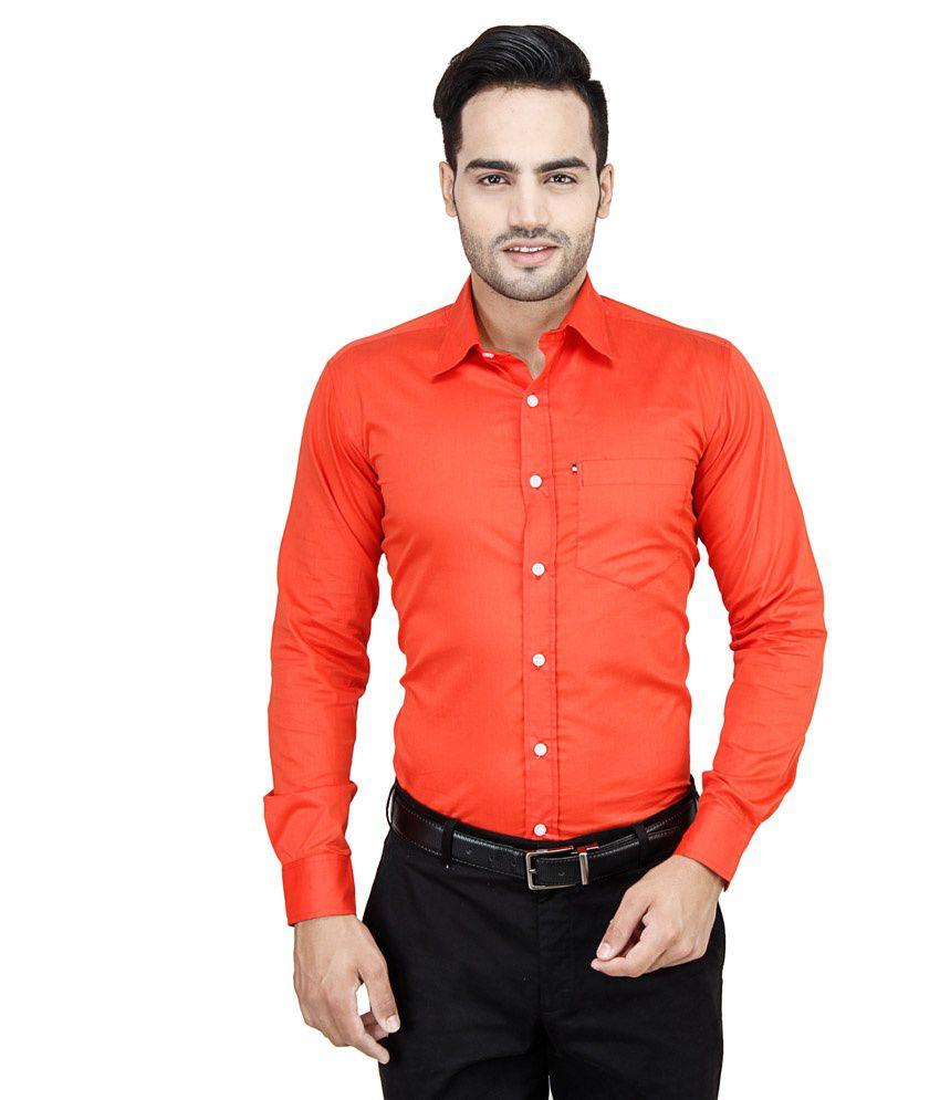 92ccf17db73 Leaf Orange Formal Shirt - Buy Leaf Orange Formal Shirt Online at Best  Prices in India on Snapdeal