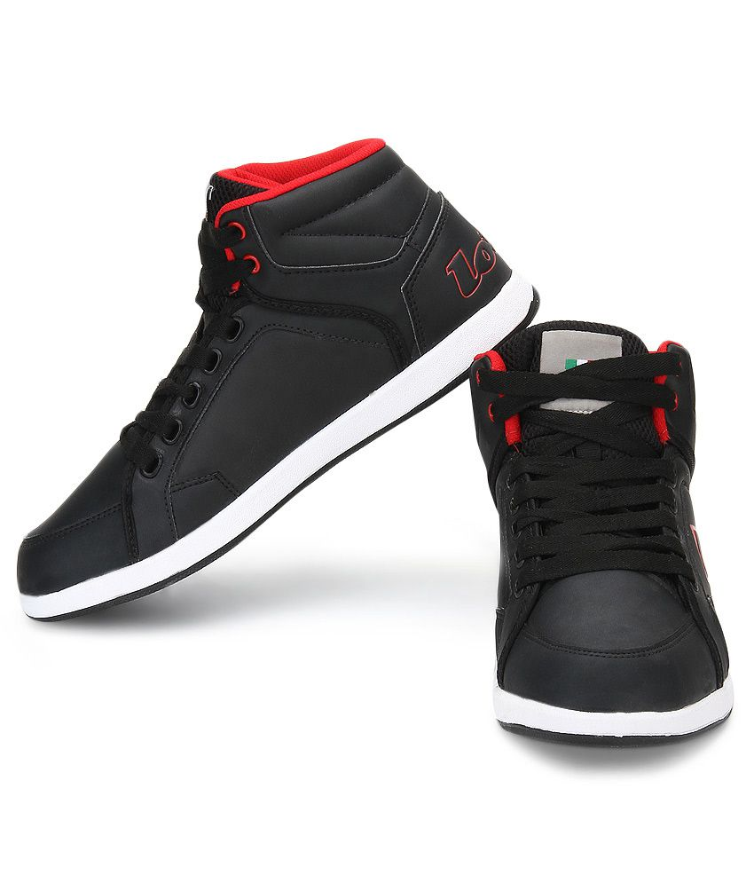 c63aa02d37e5 Lotto Logo Plus Hi Black Casual Shoes - Buy Lotto Logo Plus Hi Black ...