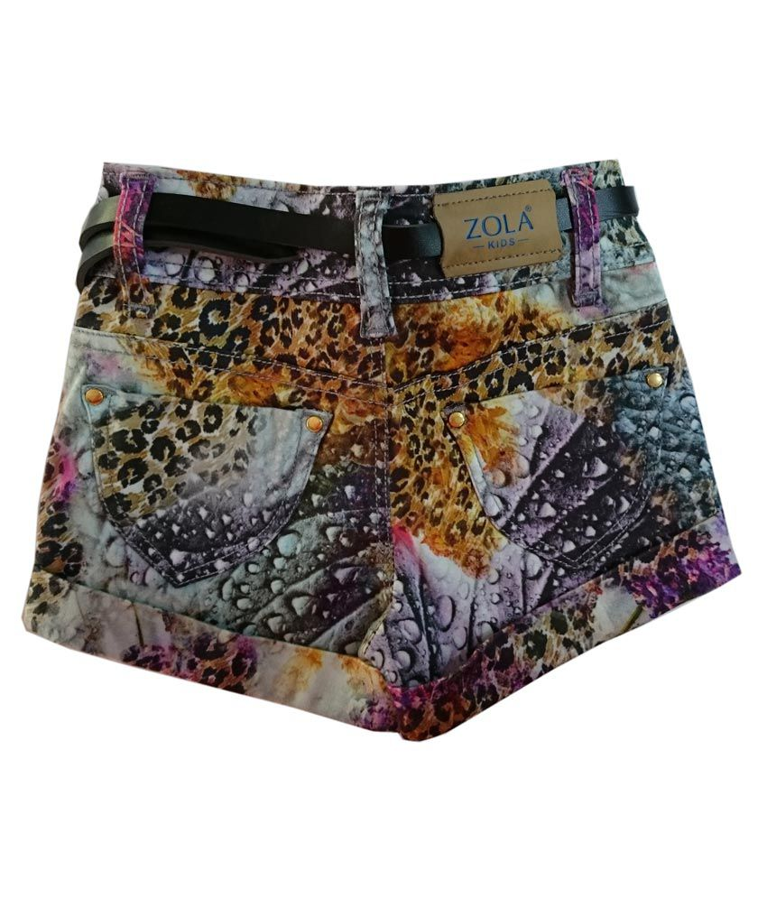 Zola Multicolor Shorts For Girls