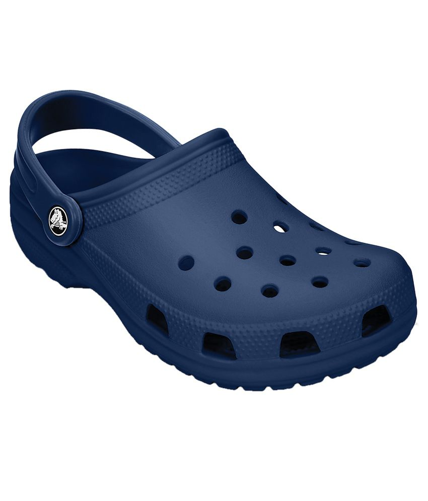 987e22be9a1091 Crocs Roomy Fit Classic Navy Clog - Buy Crocs Roomy Fit Classic Navy Clog  Online at Best Prices in India on Snapdeal