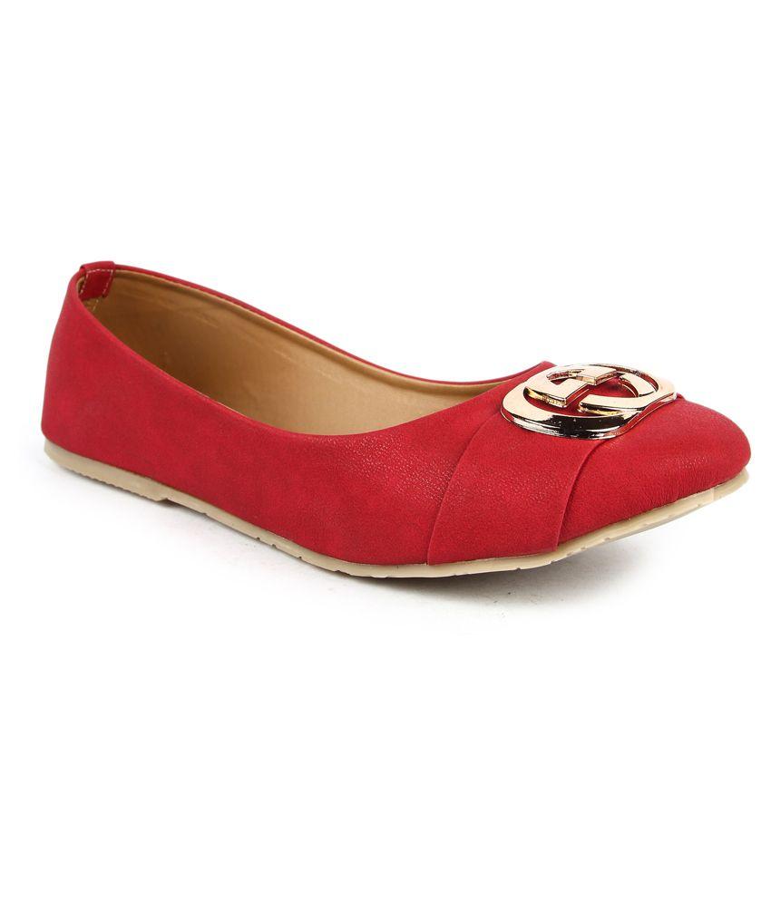 Finesse Red Ballerinas
