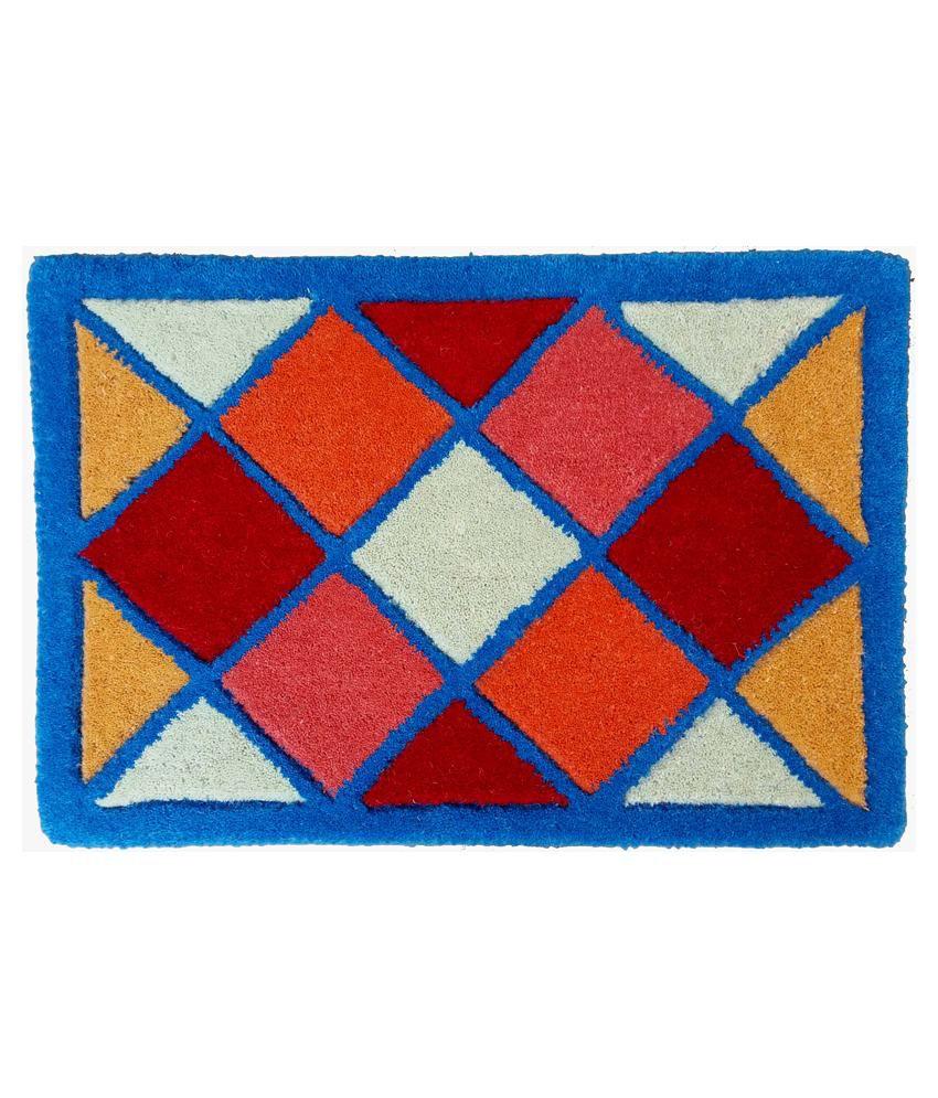 Amit Carpet Multicolor Cotton Floor Mat