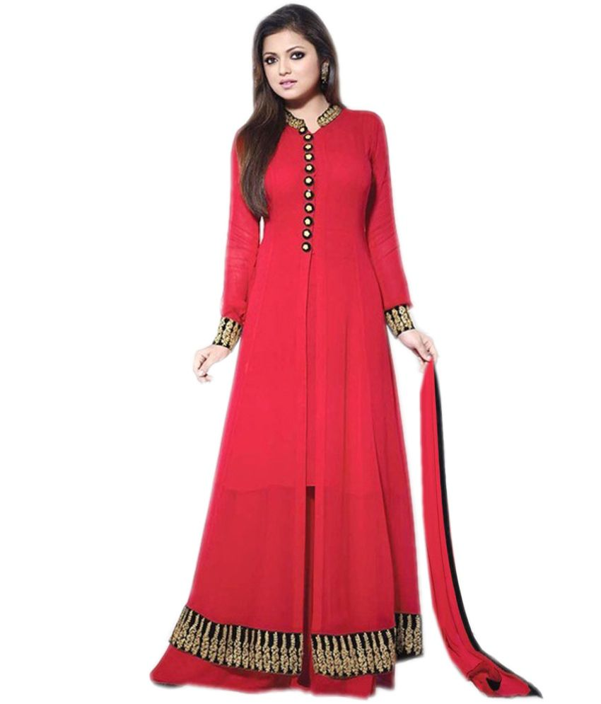 ef6304dcf8 Fabliva Attractive Latest Heavy Designer Red Anarkali Suits - Buy Fabliva  Attractive Latest Heavy Designer Red Anarkali Suits Online at Best Prices  in India ...