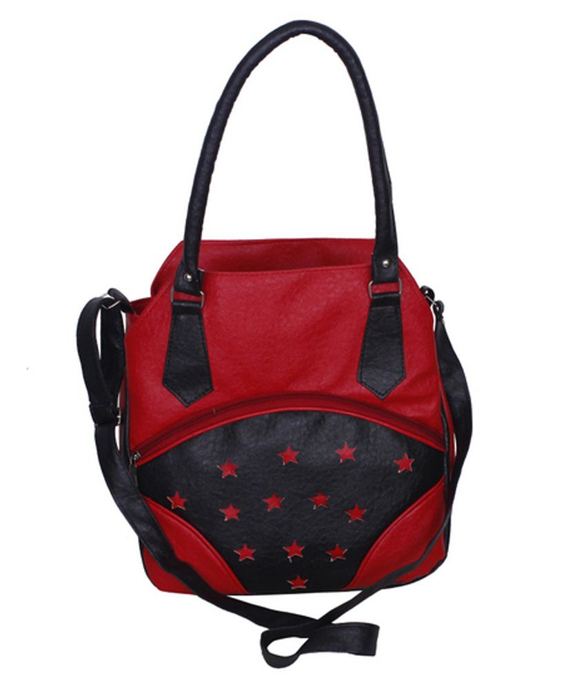 Naaz Bags Collection Red Non Leather Shoulder Bag