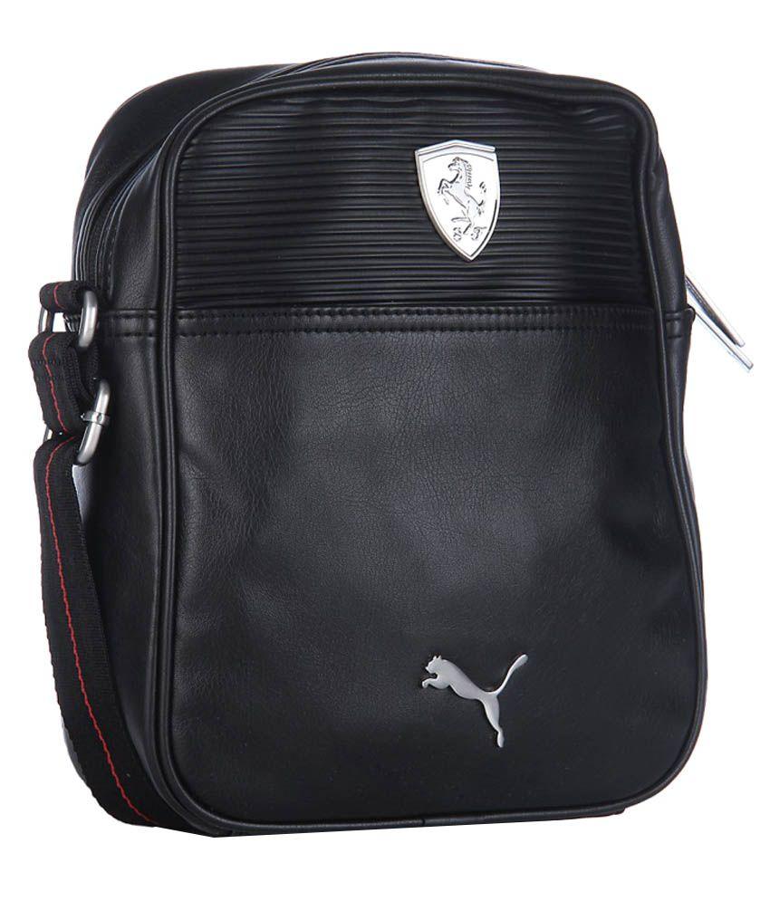 1d24a1d62a15 Puma Ferrari LS Portable Sling Bag - Black - Buy Puma Ferrari LS Portable Sling  Bag - Black Online at Low Price - Snapdeal