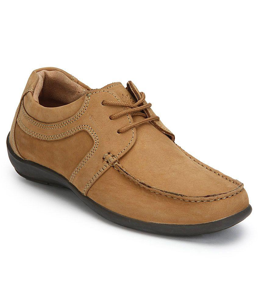 Woodland Tan Smart Casuals Shoes - Buy