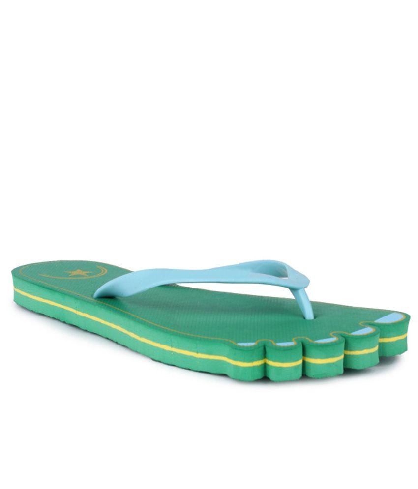 11e Green Flip Flops
