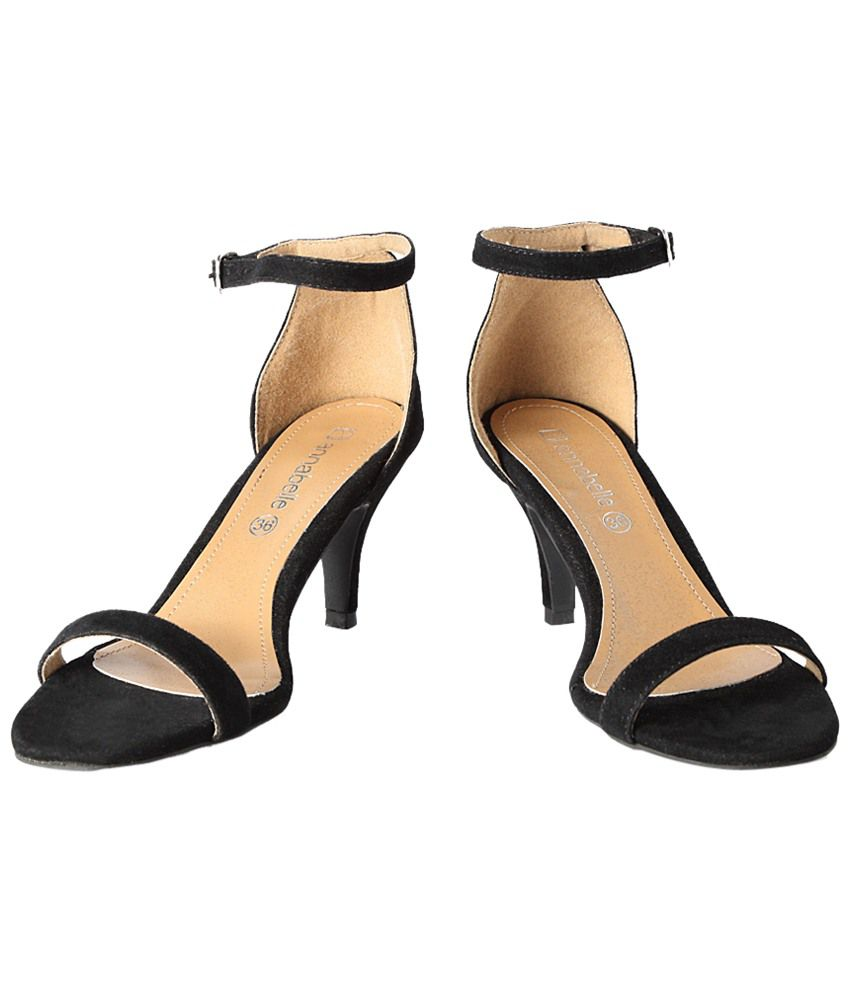 5cb3b7dc3acc4 Annabelle by Pantaloons Black Heeled Sandals Price in India- Buy Annabelle  by Pantaloons Black Heeled Sandals Online at Snapdeal