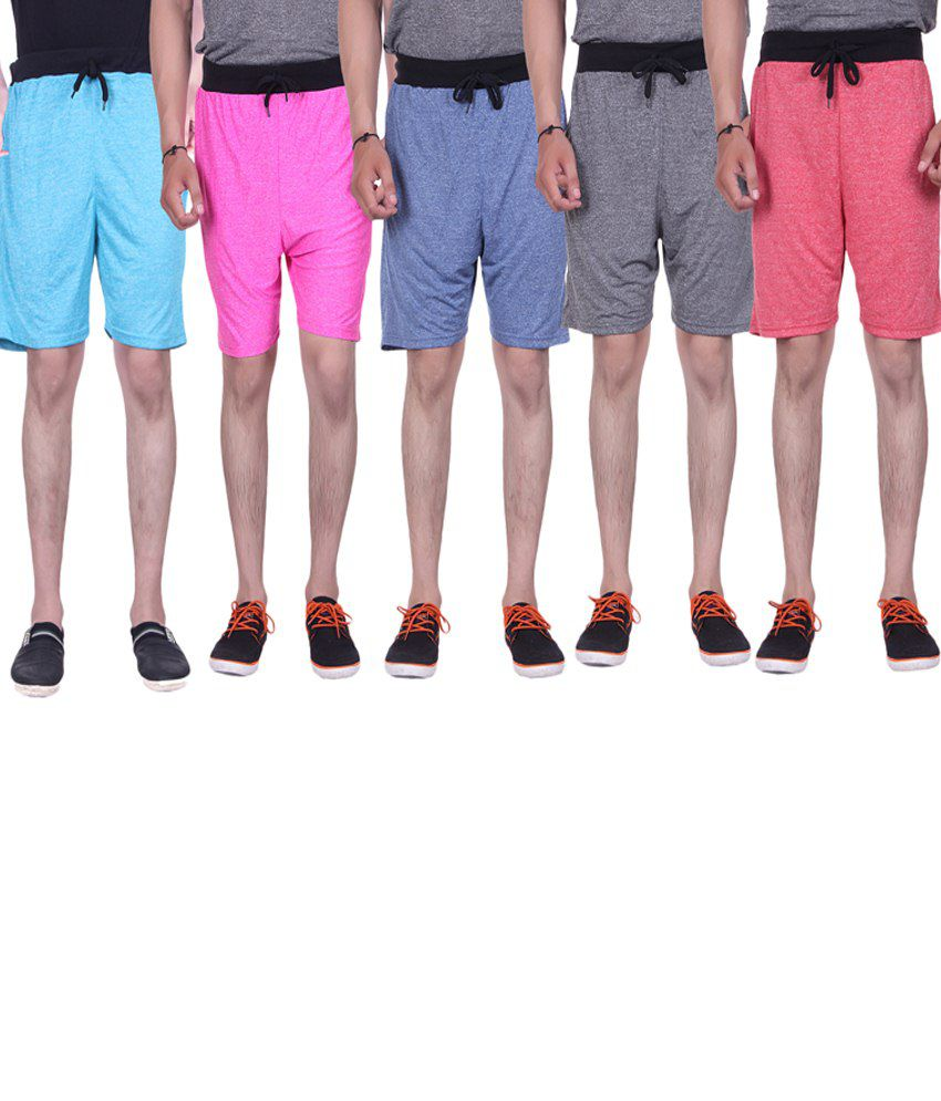 Gag Wear Multicolour Pack of 5 Solid Milang Shorts