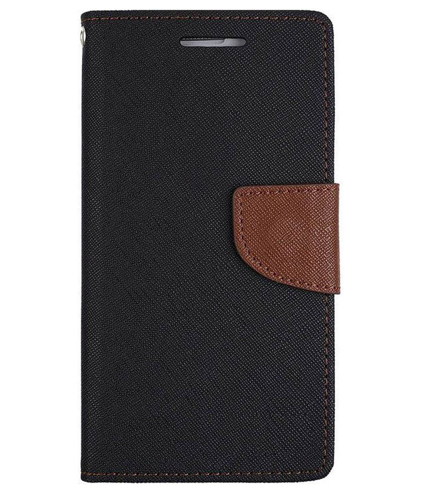 UNI Mobile Care Flip Cover for Lenovo A7000 / K3 Note - Black