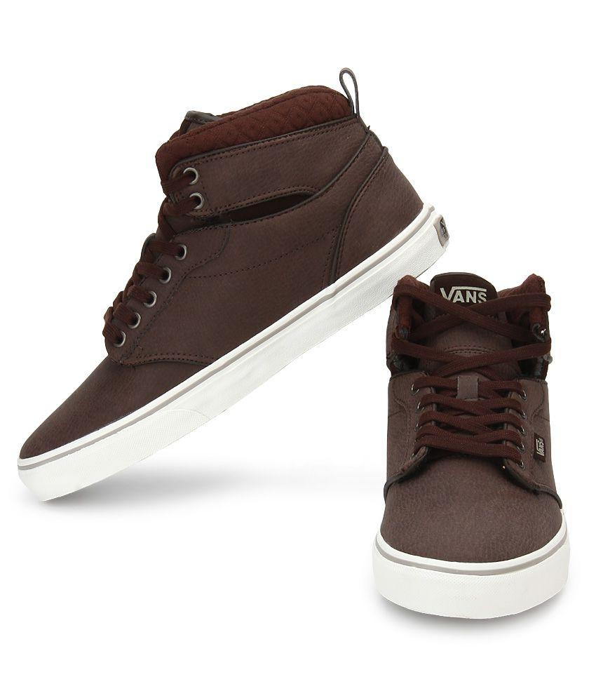 87d078f13000d4 Vans Atwood Hi Brown Casual Shoes - Buy Vans Atwood Hi Brown Casual ...