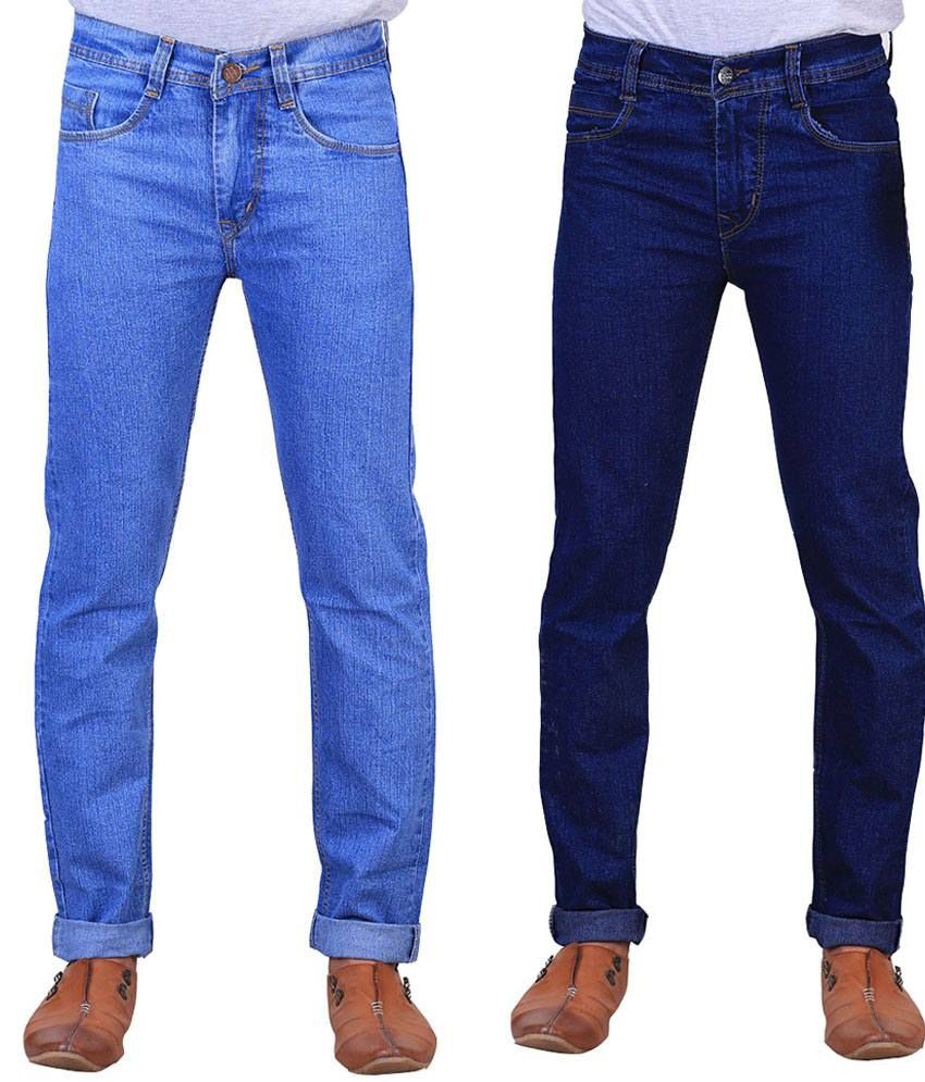 X-Cross Multicolour Regular Fit Jeans Set Of 2