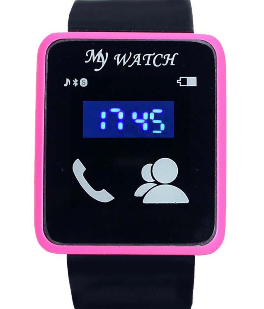 GT Gala Time Black Silicon Digital LED Watch