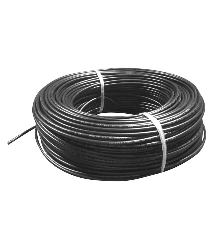 Copper Electrical Wire : Buy green cab black fr pvc insulated copper electric wire