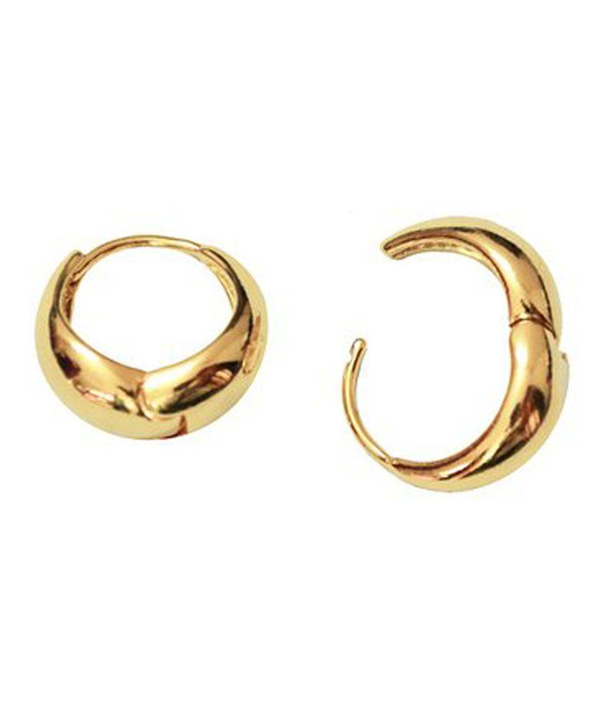 Gemroute Golden Kaju Bali Hoop Earrings for Men - Buy Gemroute ...
