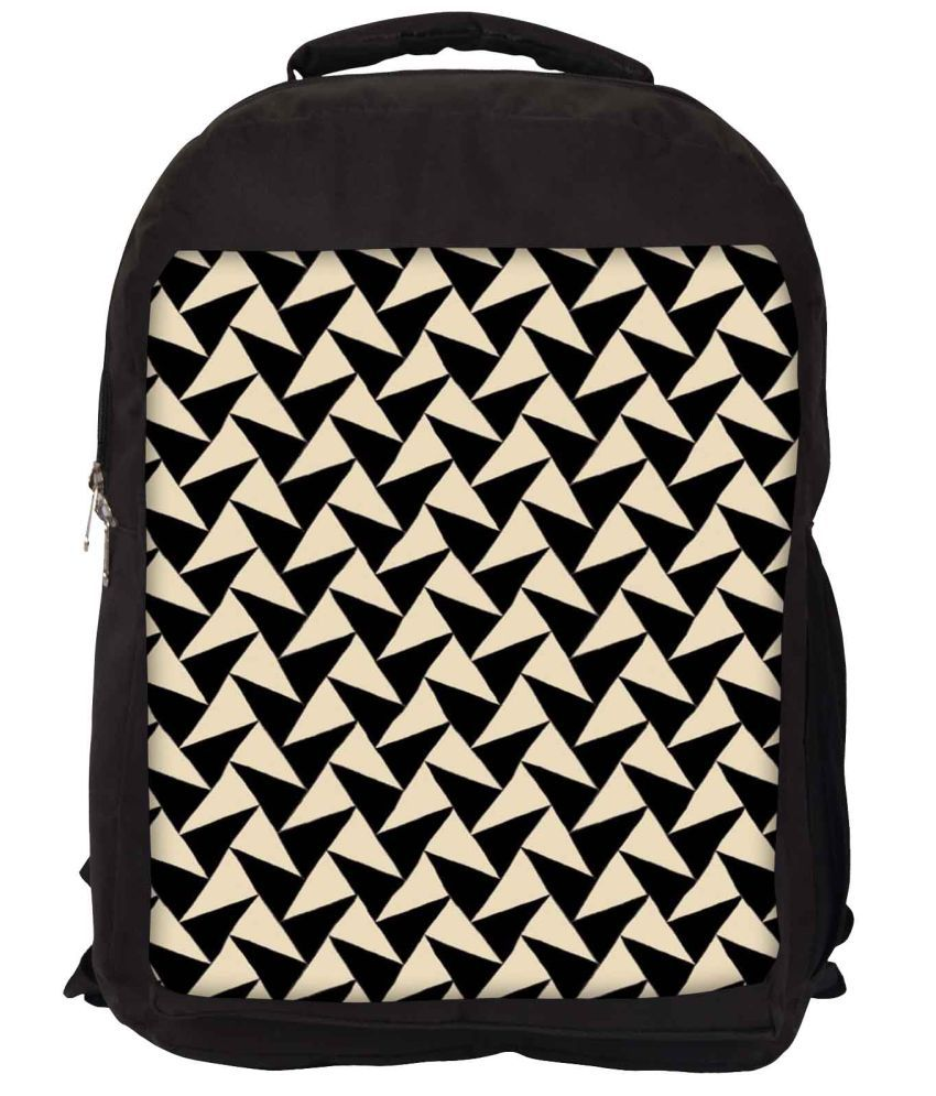 Snoogg Black and Yellow Nylon Laptop Backpack
